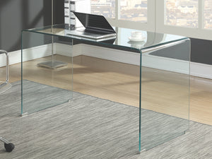 Modern All Glass Writing Desk