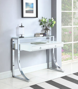 Jene Modern White Writing Desk