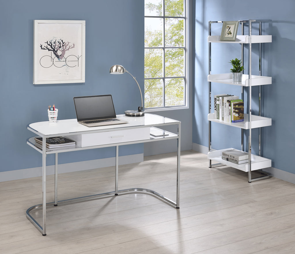 Amber Office Collection in White or Dark Oak