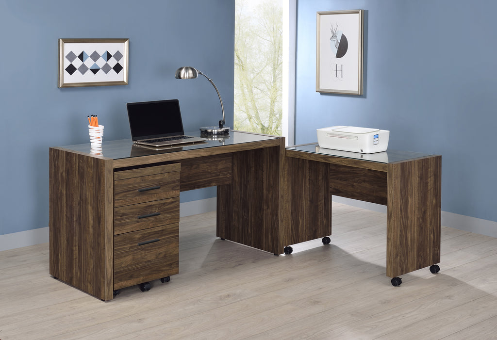 Luelle Aged Walnut Desk