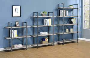 Rustic Bookcase in Grey or Nutmeg
