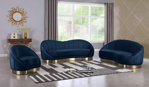 Cheryl Velvet Living Room Collection in 4 Color Options
