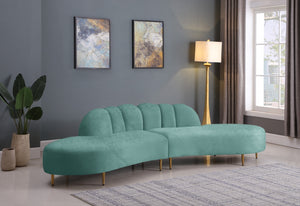 Debra 2 Piece Velvet Sectional in 6 Color Options