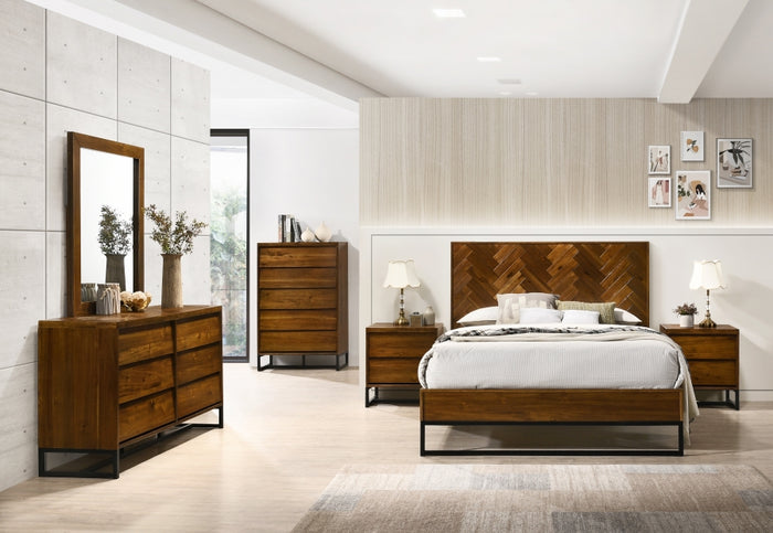 West Brown Antique Bedroom Collection