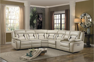 Amira Power Reclining Sectional in Beige or Dark Grey