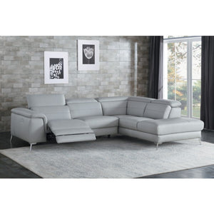 Ambrose Leather Reclining Sectional in 2 Color Options
