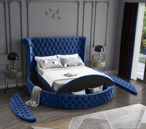 Allison Storage Round Velvet Bed  in 4 Color Options