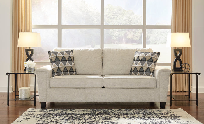 Abigail Cream Chenille Living Room Collection with Optional Queen Sleeper