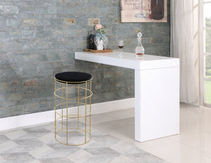 Reba Velvet Stool in Bar or Counter Height