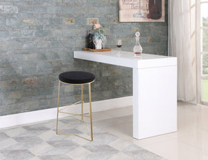 Theresa Velvet Stool in Bar or Counter Height