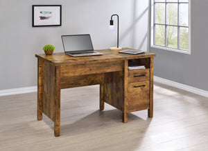 Rustic Lift-Top Writing Desk in Antique Nutmeg