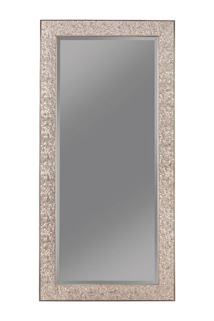 Mosaic Floor Mirror in Silver or Black