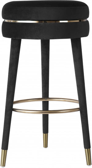 Tara Velvet Swivel Stool in Counter or Bar Height