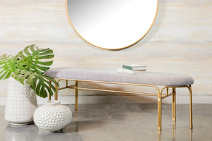 Oblong Velvet Accent Bench