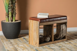 Rustic Storage Accent Bench