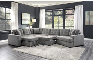 Veronica Grey Tufted Modular Sectional