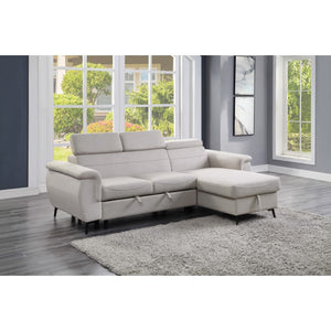 Ceasar Pull Out Sleeper Sectional in 3 Color Options