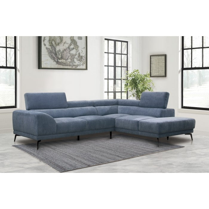 Matilda Modern Fabric Sectional in 2 Color Options