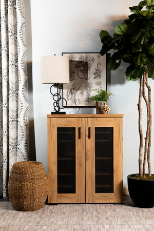 Accent Cabinet with Metal Mesh Screen Doors