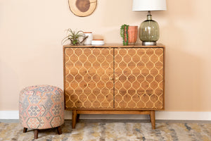 Gold Mermaid's Tail Accent Cabinet in 2 Sizes