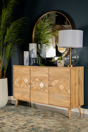 Checkered Pattern Accent Cabinet in 2 Sizes