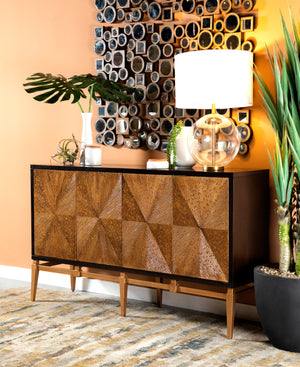 Sunburst Textured Accent Cabinet in 2 Sizes