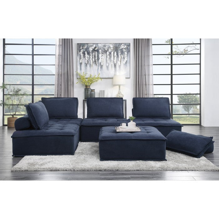 Rick Blue Fabric Modular Sectional