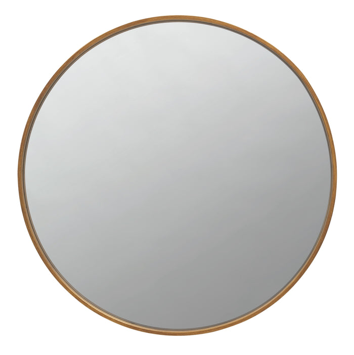 "Round 40"" Wall Mirror in Brass"
