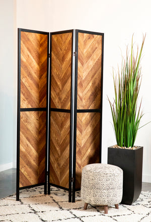 Rustic Three Panel Screen Divider