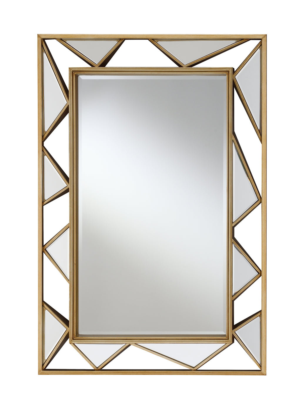 Antique Gold Geometric Wall Mirror