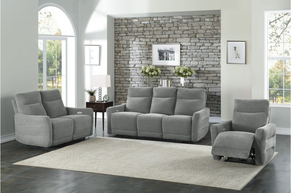 Eden Grey Fabric Power Reclining Living Room Collection
