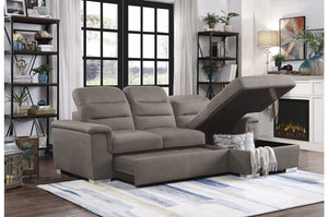 Alfonso Fabric Sleeper Sectional in 4 Color Options