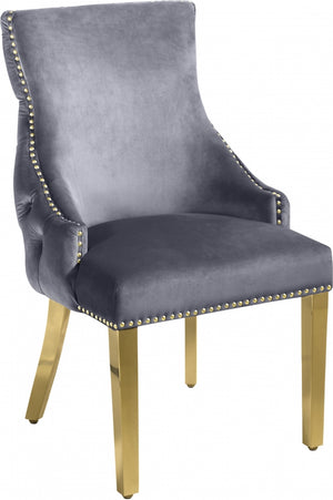 Tully Velvet Dining Chair with Gold Legs in 5 Color Options