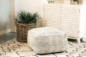 Distressed Bohemian Pouf