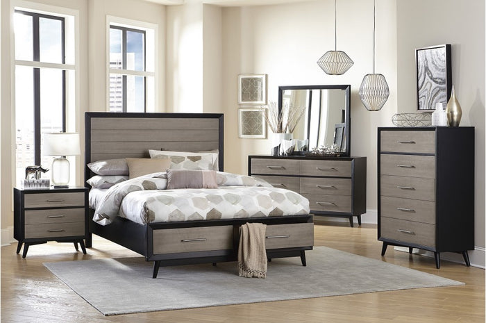 Rocky Dual Tone Storage Bedroom Collection