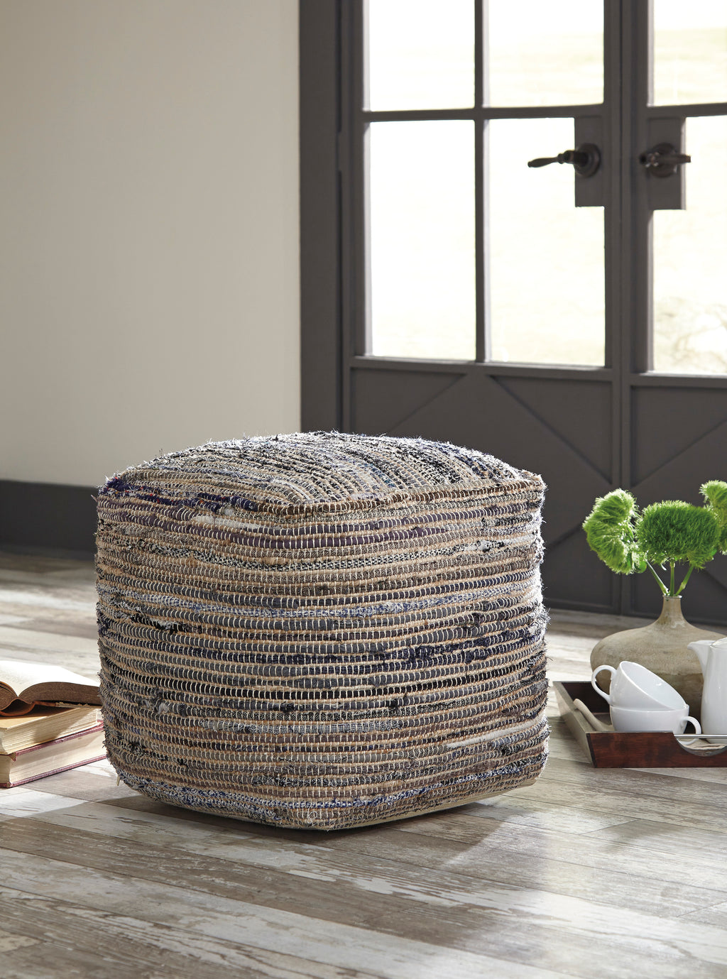 Denim Boho Chic Pouf