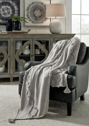 Grey Hand Woven Cotton Throw