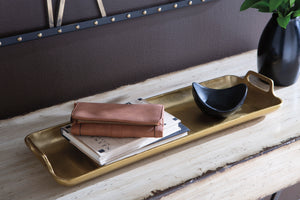 Gold Cast Aluminum Accent Tray