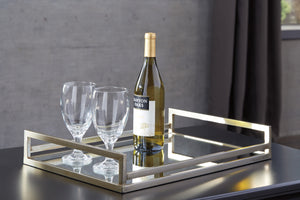 Mirrored Glass Accent Tray