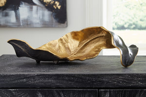 Contemporary Black & Gold Sculpture in Cast Aluminum