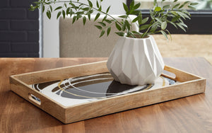 Enameled Interior Tray with Cutout Handles
