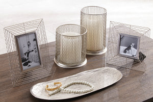 Contemporary SIlver 5 Piece Accessories Set