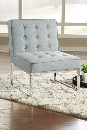 Cyan Armless Accent Chair in Ivory or Grey
