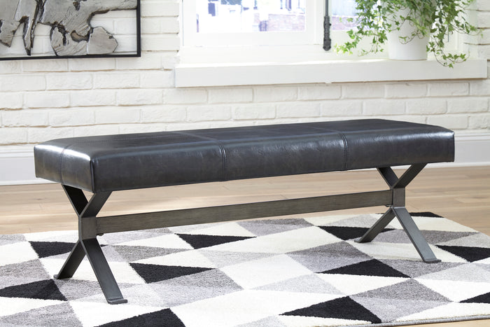 Larry Black Distressed Accent Bench