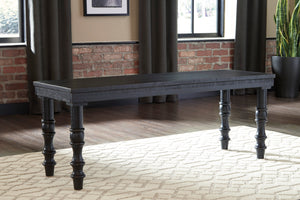 Danson Antique Accent Bench in Black or White