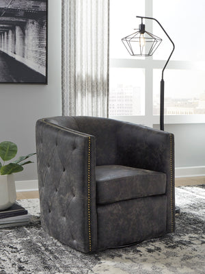 Brent Tufted Swivel Accent Chair