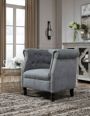 Jace Accent Chair in Slate Blue or Natural