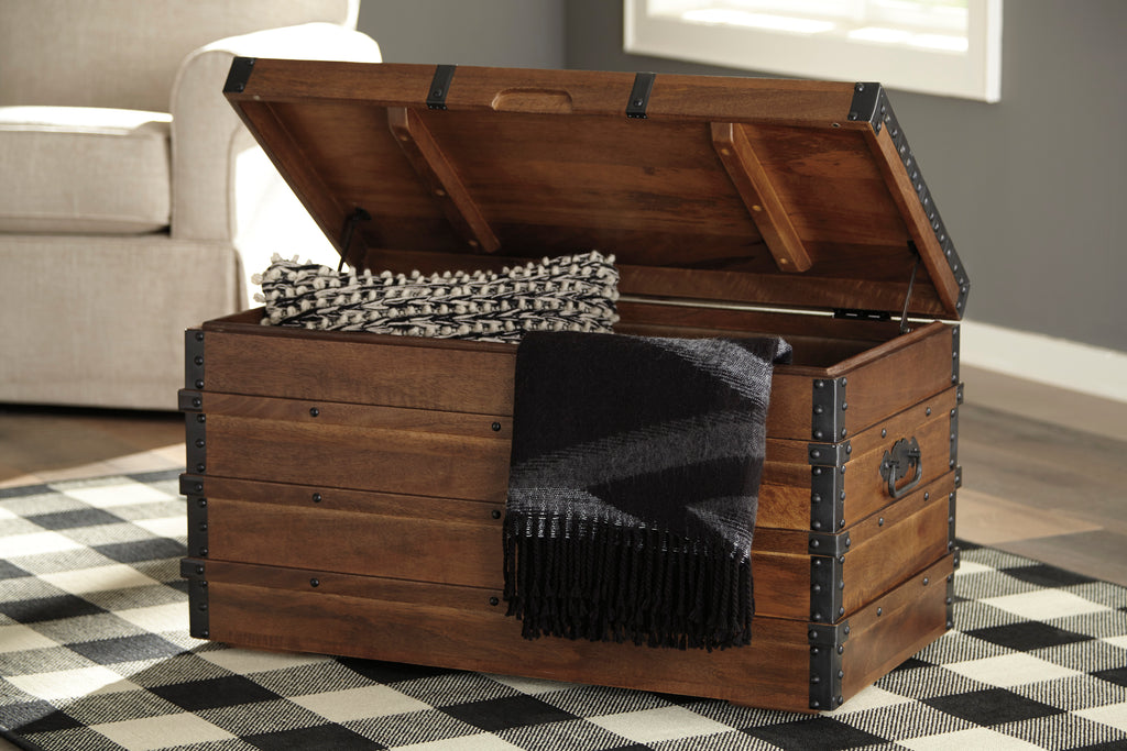 Vintage Brown Accent Storage Trunk