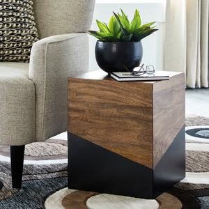 Contemporary Dual Tone Accent Table