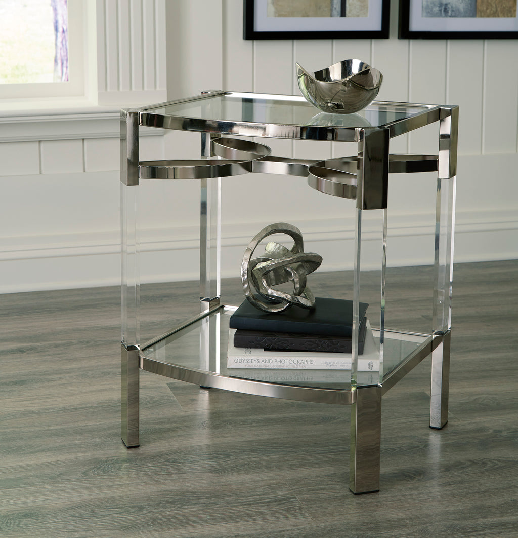 Contemporary Acrylic Accent Table